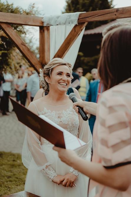 Radość, usmiech, dzien ślubu,