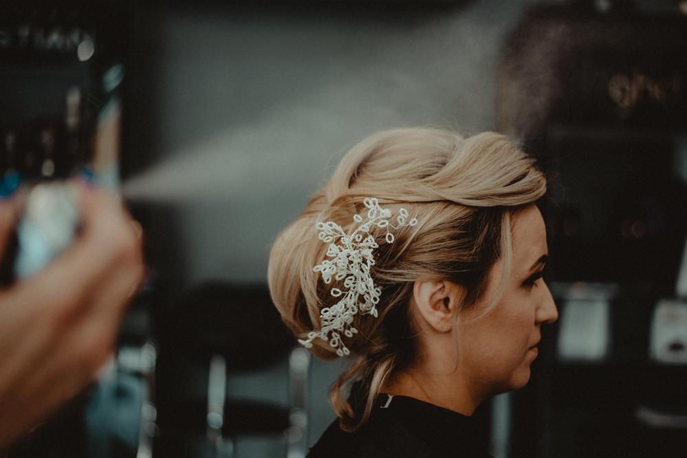 fryzjer, dzień ślubu