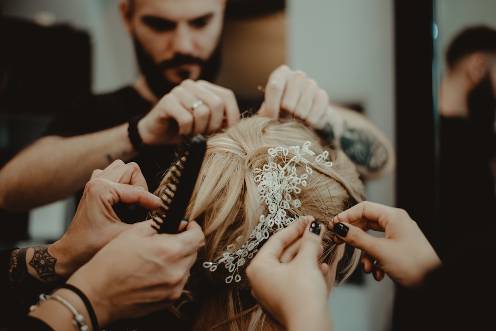 fryzjer, fryzura ślubna